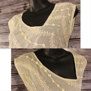 Anthropologie Tops - 3/30<Ribboned Mesh Top by Odille for Anthropologie